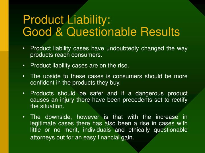 Product Liability: