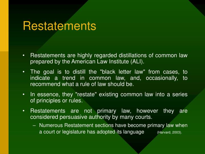 Restatements