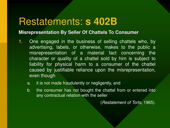 Restatements: