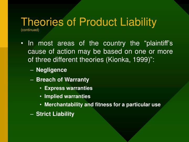 Theories of Product Liability