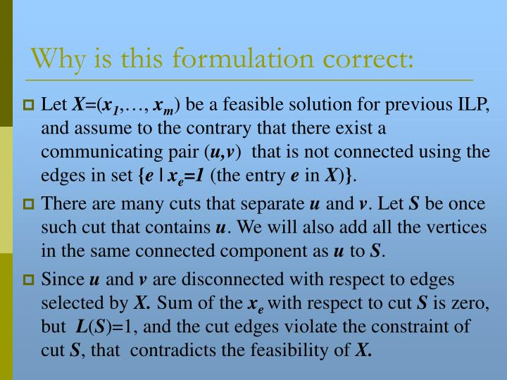 Why is this formulation correct: