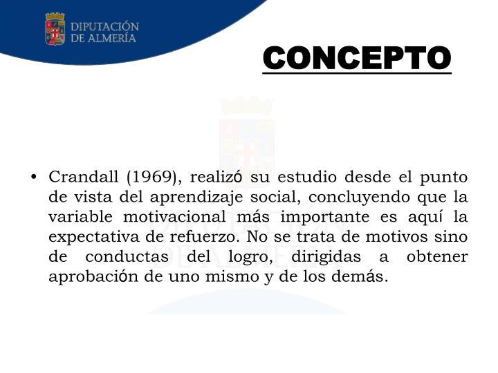 Crandall (1969), realiz
