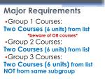 major requirements1