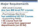 major requirements2