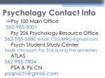 psychology contact info