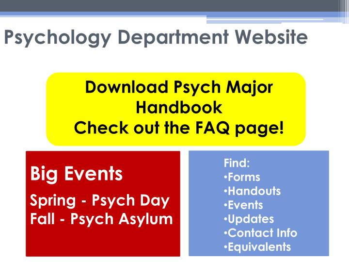 Psychology Department Website
