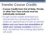 transfer course credits1