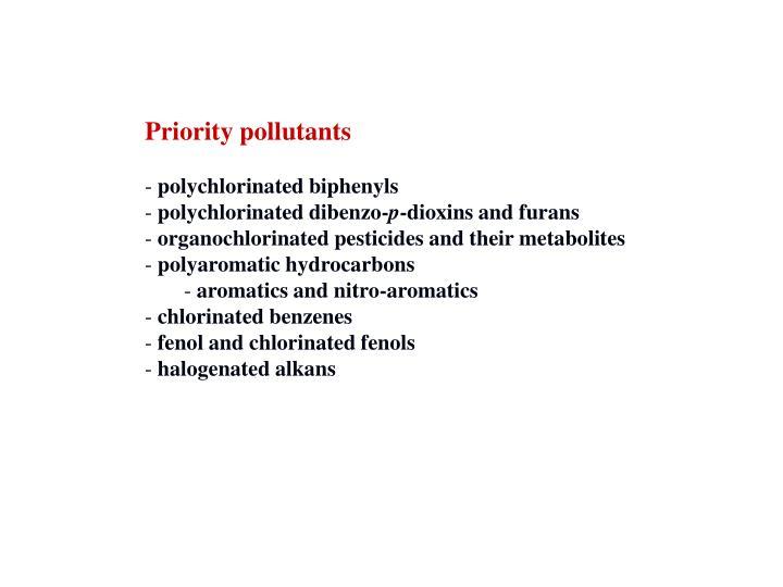 Priority pollutants