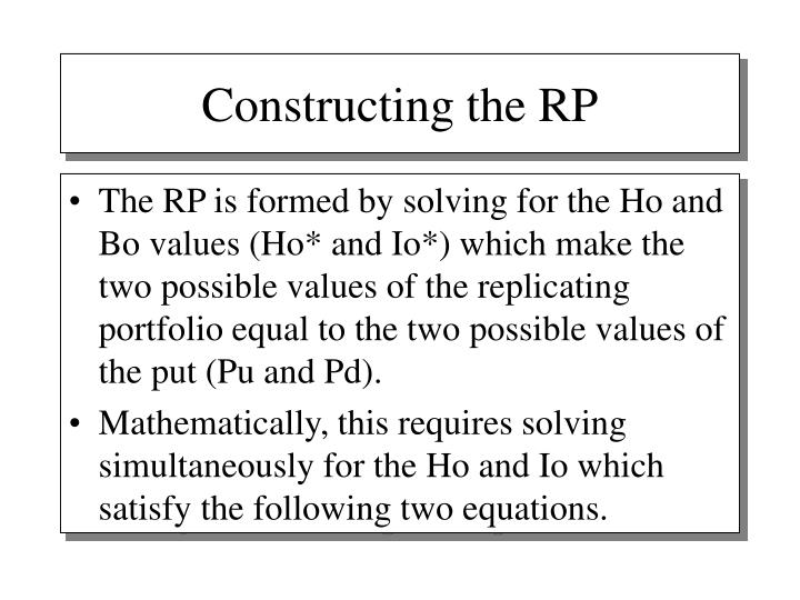 Constructing the RP