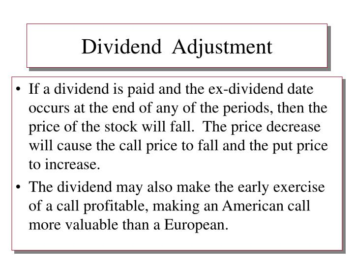Dividend  Adjustment