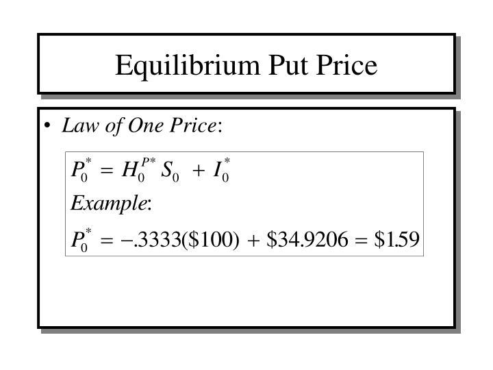 Equilibrium Put Price