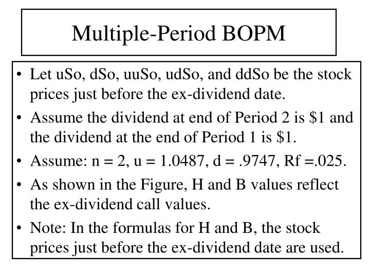 Multiple-Period BOPM