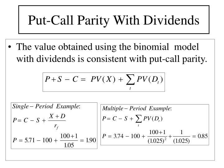 Put-Call Parity With Dividends