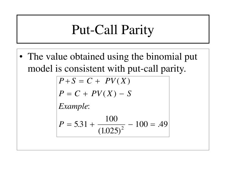 Put-Call Parity