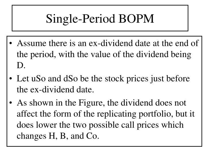 Single-Period BOPM