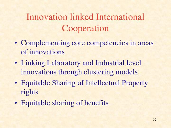 Innovation linked International Cooperation