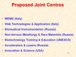 proposed joint centres