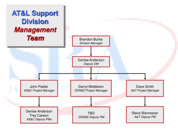 At l support division management team