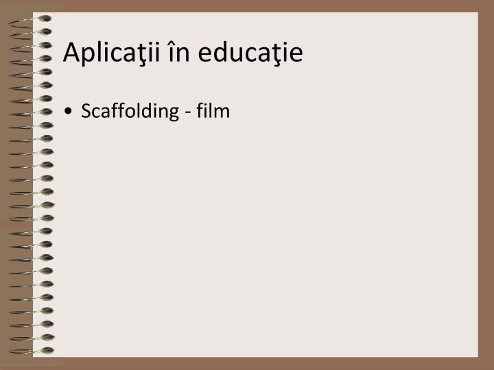 Aplicaţii în educaţie