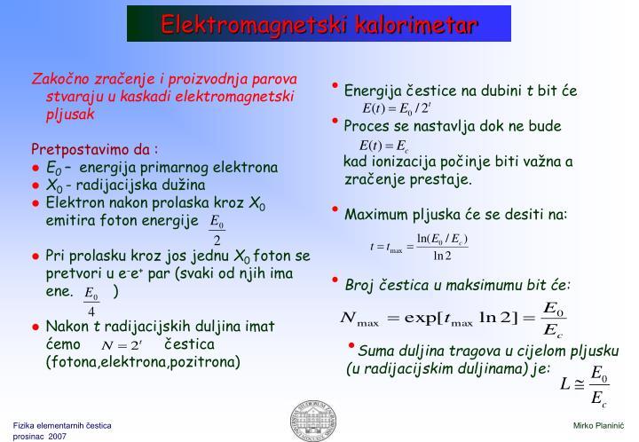 Elektromagnetski kalorimetar
