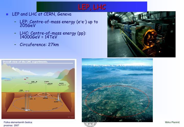 LEP, LHC