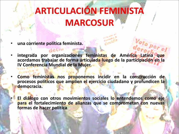 ARTICULACIÓN FEMINISTA MARCOSUR