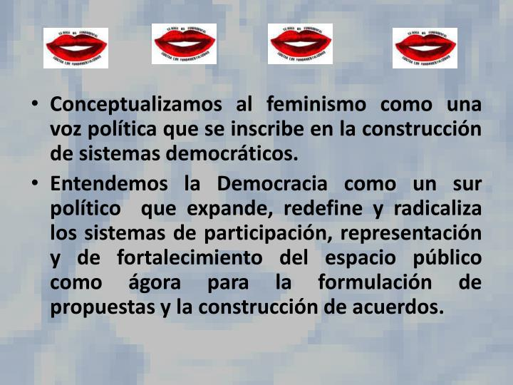 Conceptualizamos al feminismo