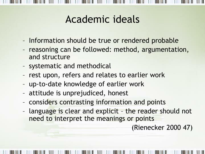 Academic ideals