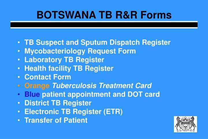 BOTSWANA TB R&R Forms