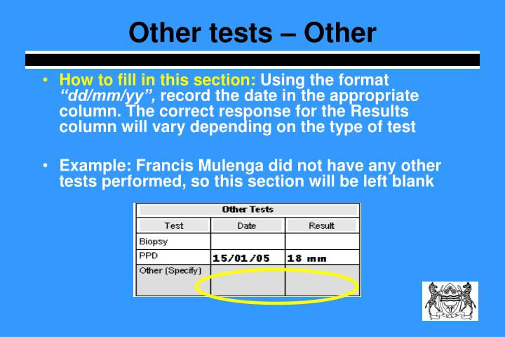 Other tests – Other