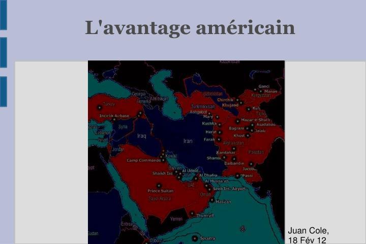 L'avantage américain