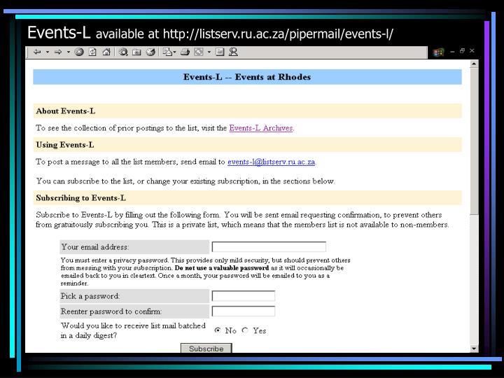 Events-L