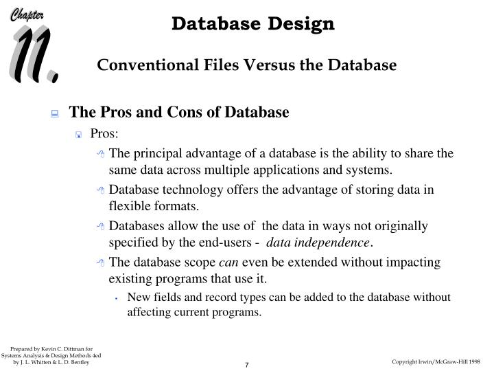 Conventional Files Versus the Database