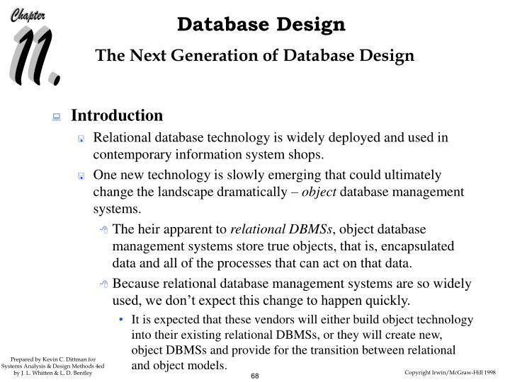 The Next Generation of Database Design