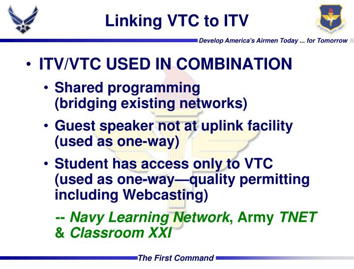 Linking VTC to ITV
