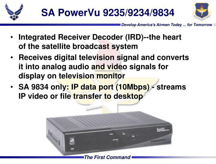 SA PowerVu 9235/9234/9834