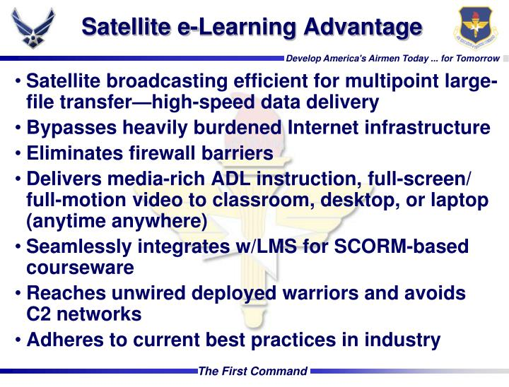Satellite e-Learning Advantage