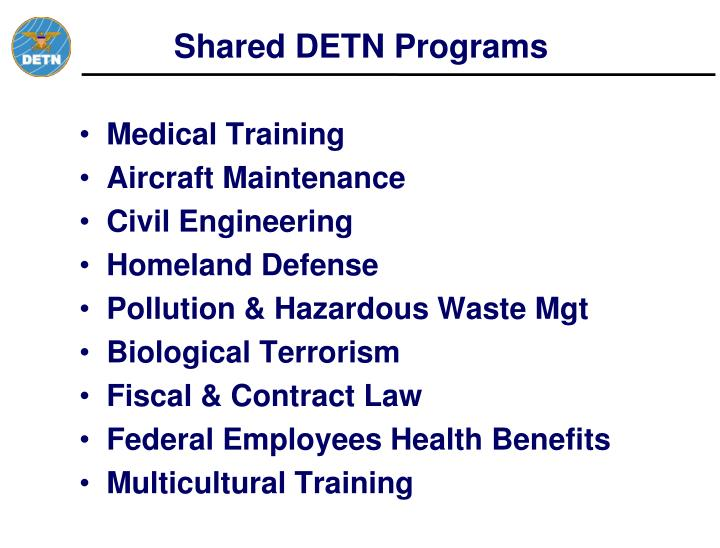 Shared DETN Programs