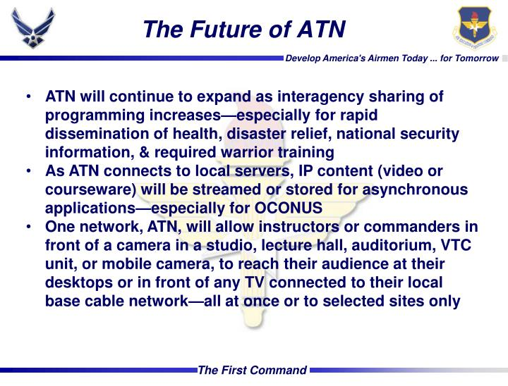 The Future of ATN