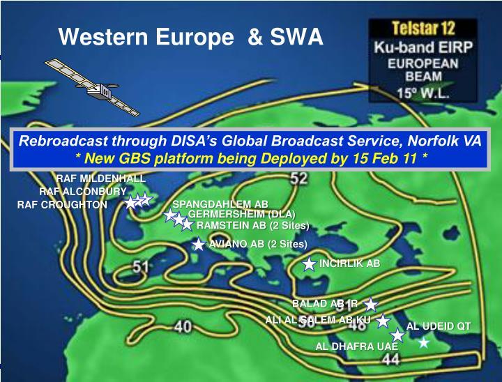 Western Europe  & SWA