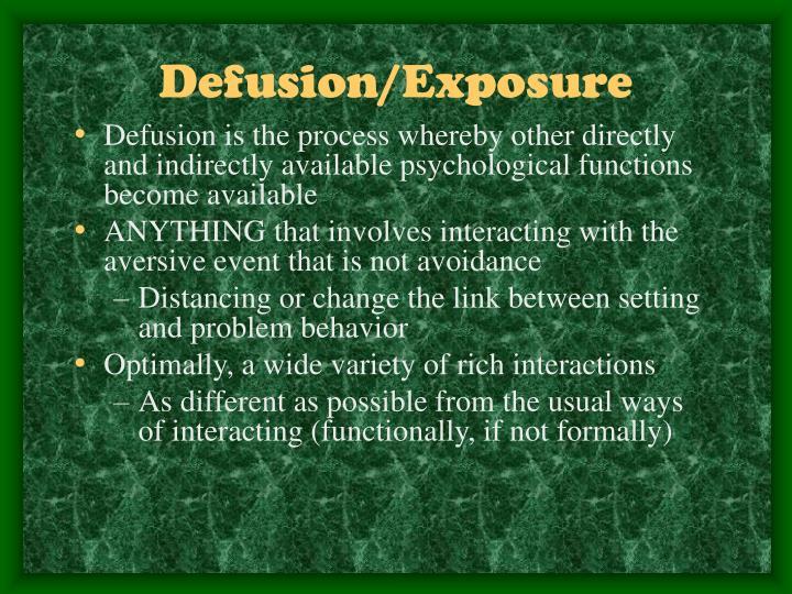 Defusion/Exposure