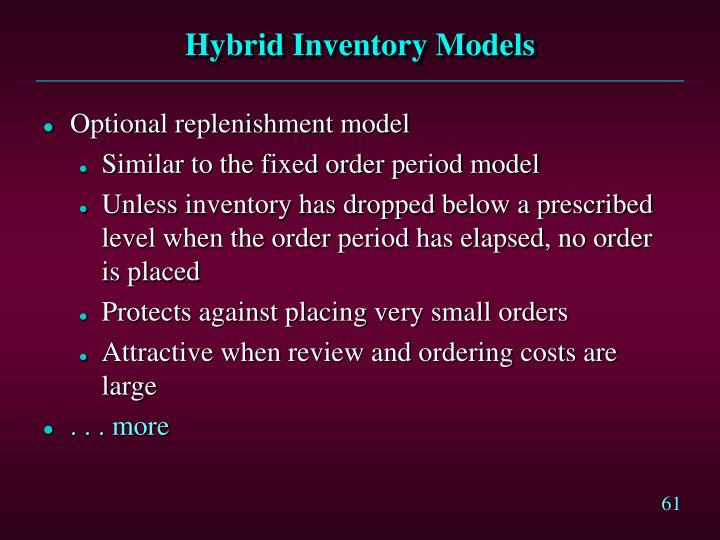 Hybrid Inventory Models