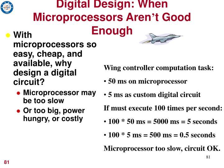 Digital Design: When Microprocessors Aren