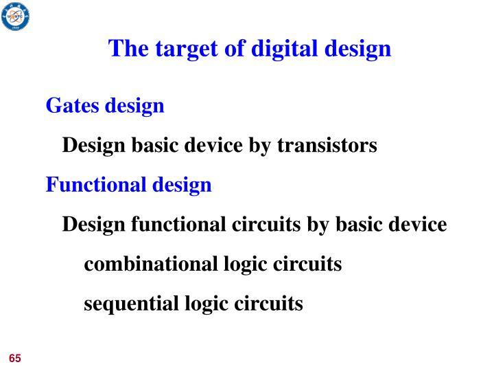 The target of digital design