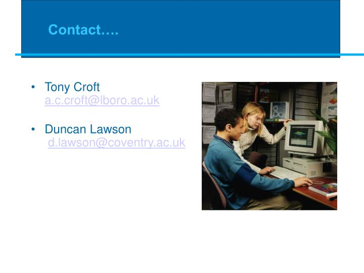 Contact….