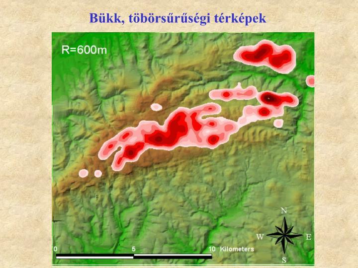 Bükk, töbörsűrűségi térképek