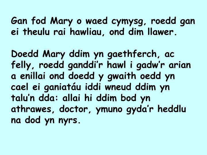 Gan fod Mary o waed cymysg, roedd gan ei theulu rai hawliau, ond dim llawer.