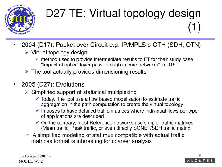 D27 TE: Virtual topology design (1)