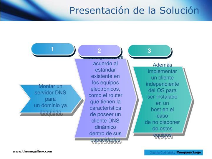 Presentación de la Solución