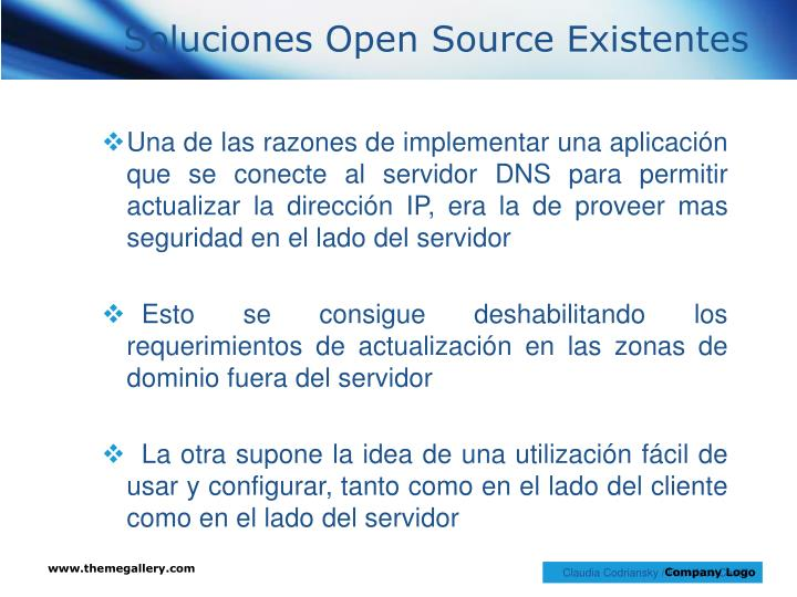 Soluciones Open Source Existentes